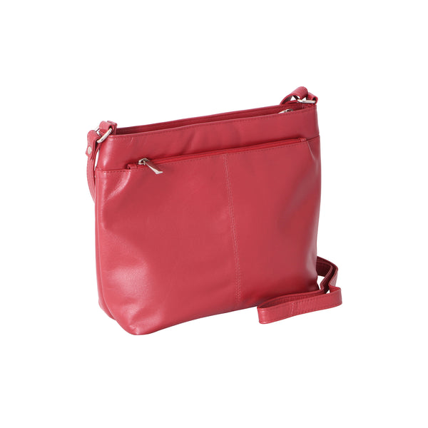 Avenue 'maddie' Cross Body Tote Red