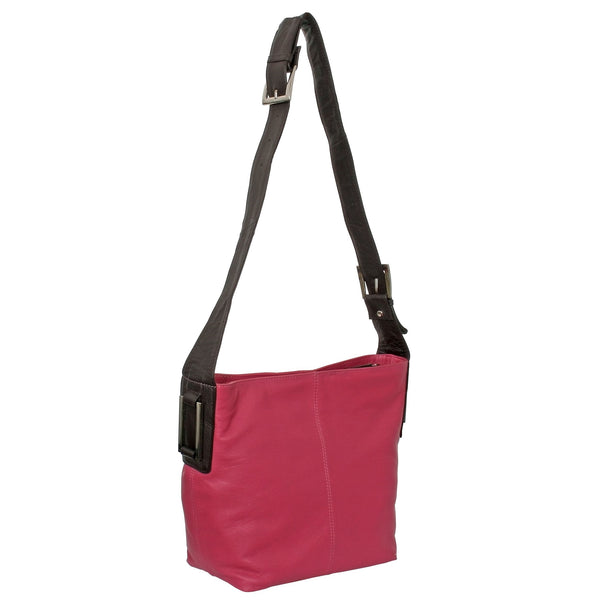 Avenue Ronnie Leather Handbag Pink
