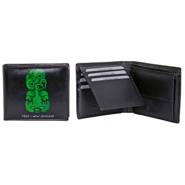 Avenue Leather Souvenir Mens Wallet Rfid Lined Tiki