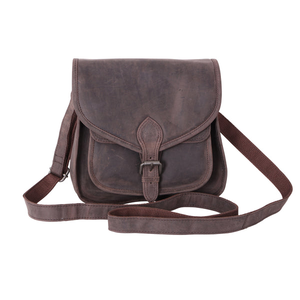 Hunter Leather Brown Cross Body Satchel