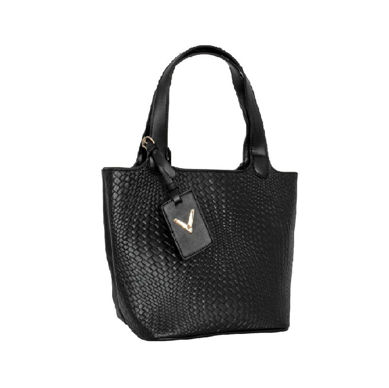 Avenue Faux Leather Handbag Black