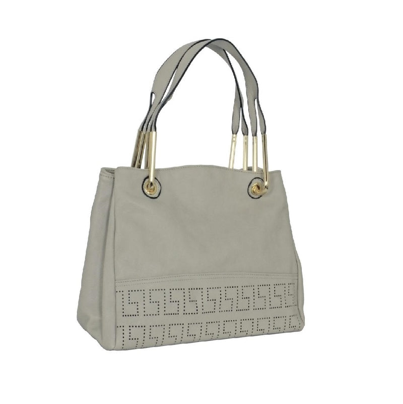 Avenue Faux Leather Handbag Grey