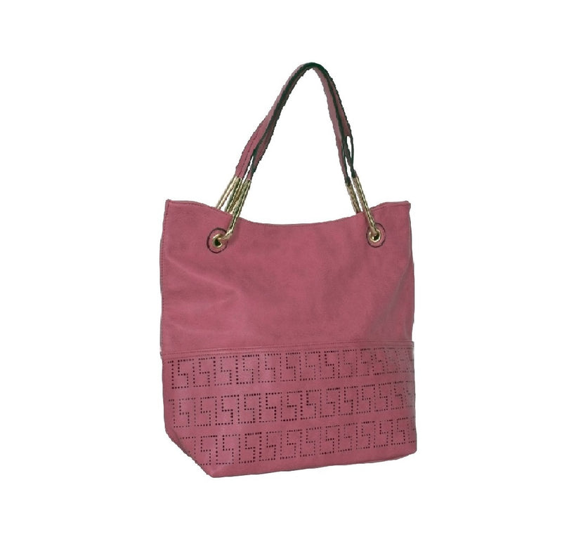 Avenue Faux Leather Handbag Pink