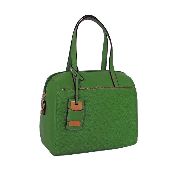 Avenue Faux Leather Handbag Leaf Green
