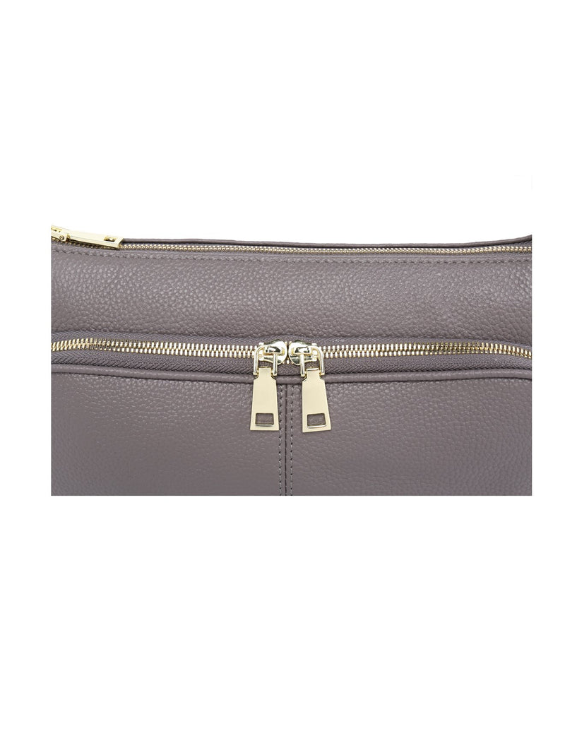 Serenade Kayla Elegant Leather Bag Stone