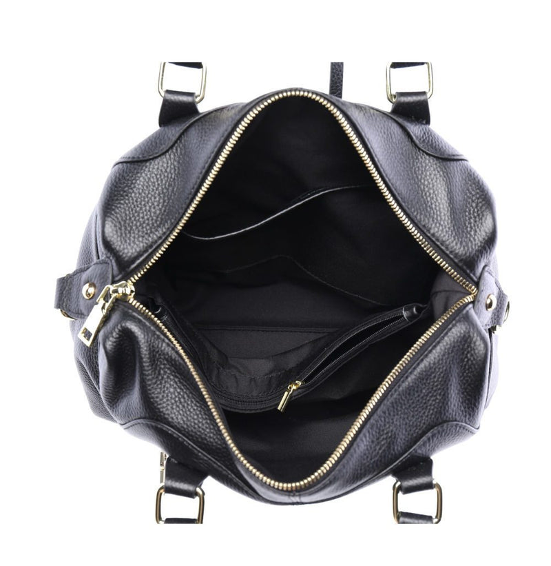 Serenade Athena Elegant Leather Handbag Black