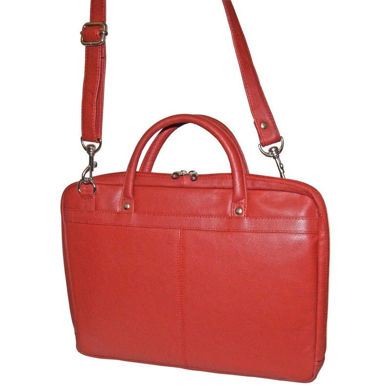 Avenue 15″ Leather Laptop Case/Red