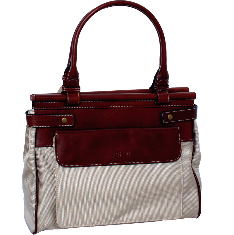 Avenue New Generation Nylon Leather Tote