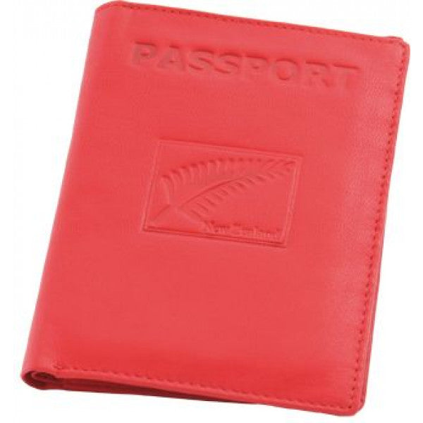 Fern Leather Passport Wallet Red