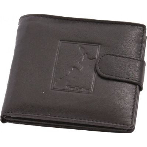 Men's Leather Wallet W/map