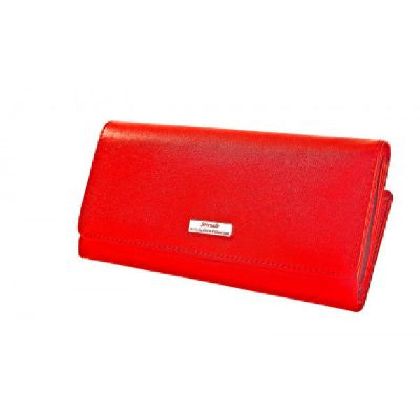 Serenade Liliana Large Leather Wallet Red