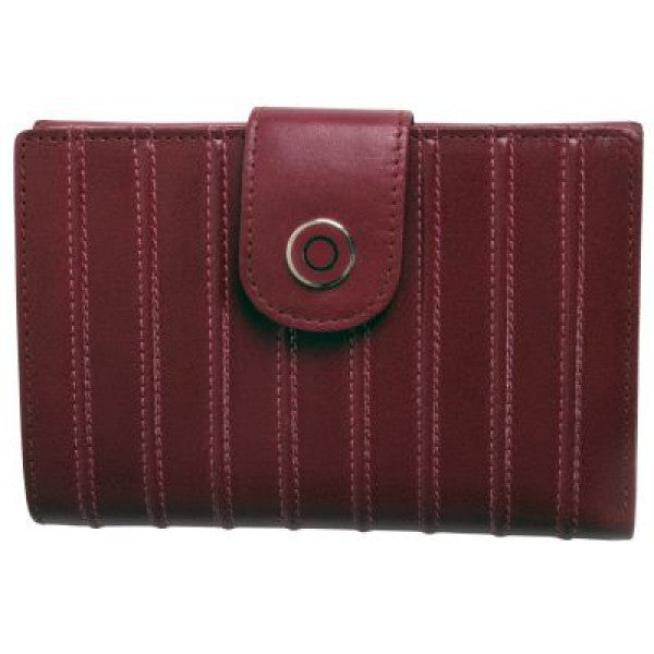 Avenue Ladies Leather Wallet Ridged Rose