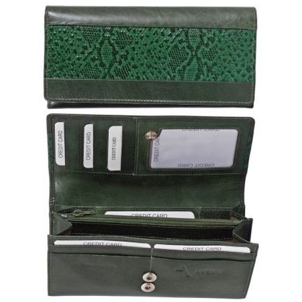 "Avenue ""Celano"" Ladies Leather Wallet Green"