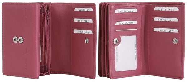 "Avenue ""fiora"" Ladies Leather Wallet Pink"