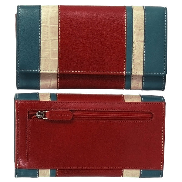 "Avenue ""la Della"" Ladies Leather Wallet Red"