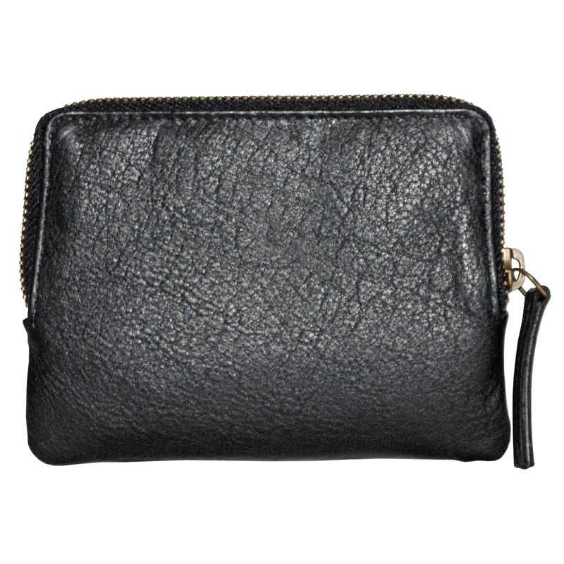 Avenue Xl Hide Zip Purse/black-black Hide