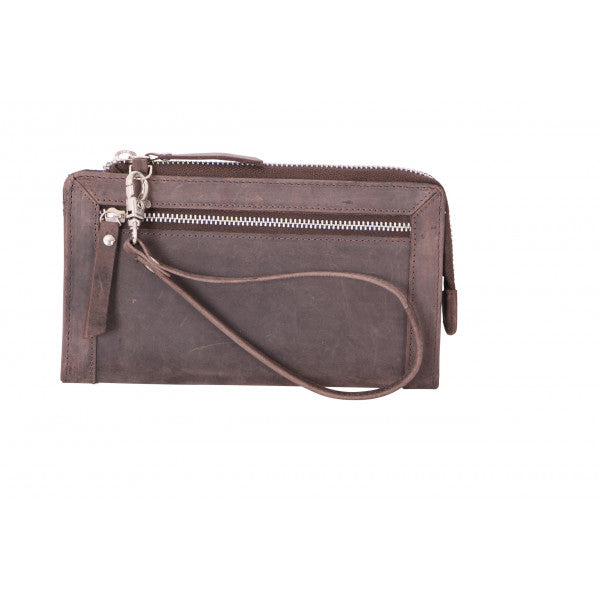 Avenue Huntress Zip Wallet/Brown