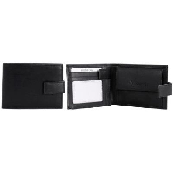 "Avenue ""Marco"" Mens Leather Wallet Black"