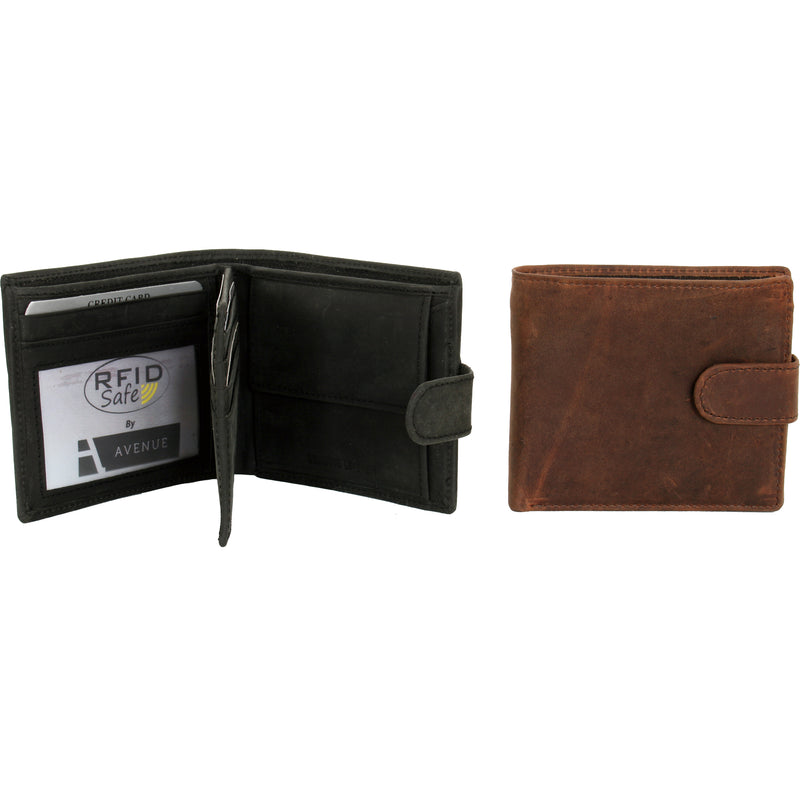 Avenue Hunter Leather Wallet Brown