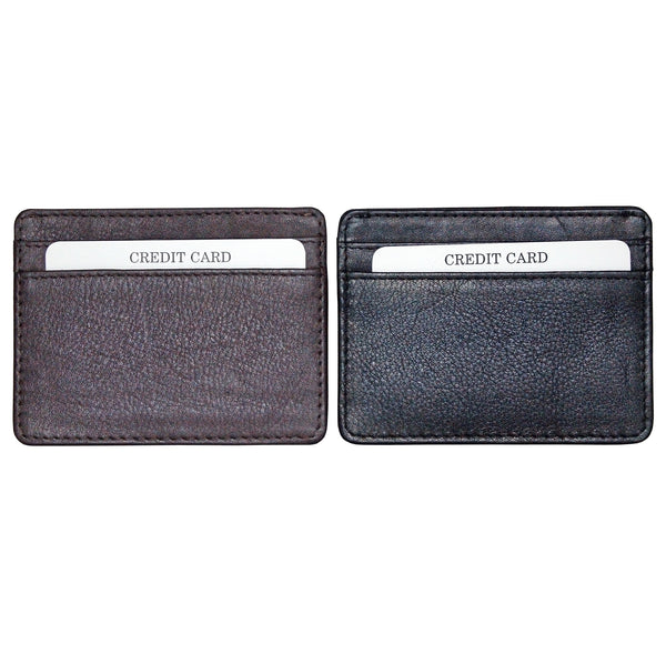 Avenue Leather Credit Card Slip Case Black