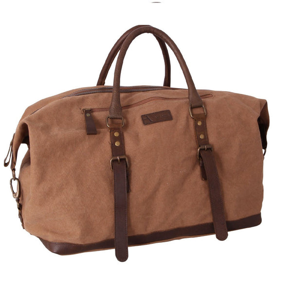 Hunter Canvas The Weekender Overnight Bag Khaki