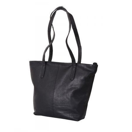 Avenue Laia Zed Leather Tote Black