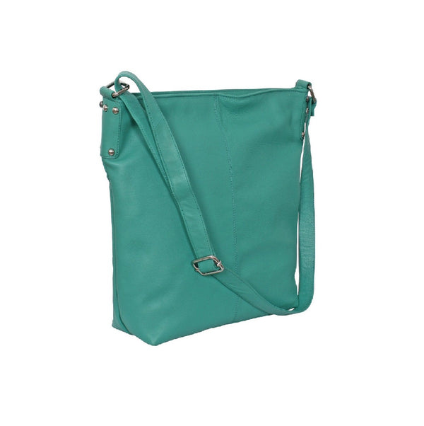 Avenue Rosie Leather Handbag Aqua