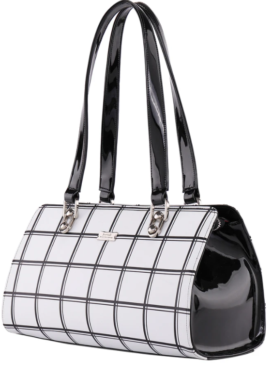 Serenade Checkers Leather Handbag