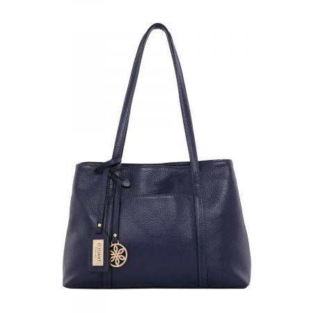 Serenade Eden Elegant Leather Bag Navy