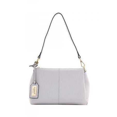 Serenade Edith Elegant Leather Handbag Pebble