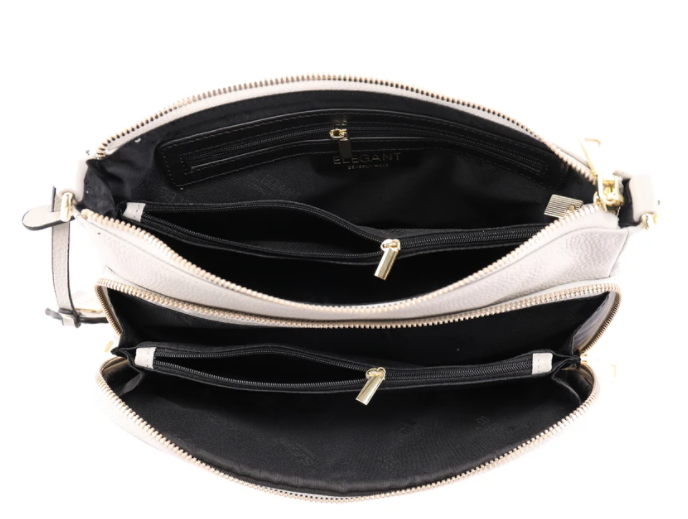 Serenade Kayla Elegant Leather Handbag Pebble