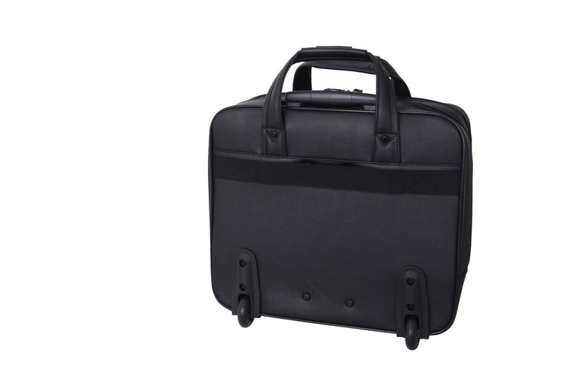 "Avenue Mobile Office and Overnight Case 15"" Laptop Black Pu"
