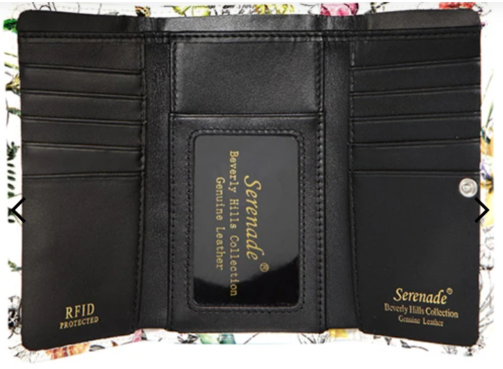 Serenade Botannics Leather Wallet - RFID Protected