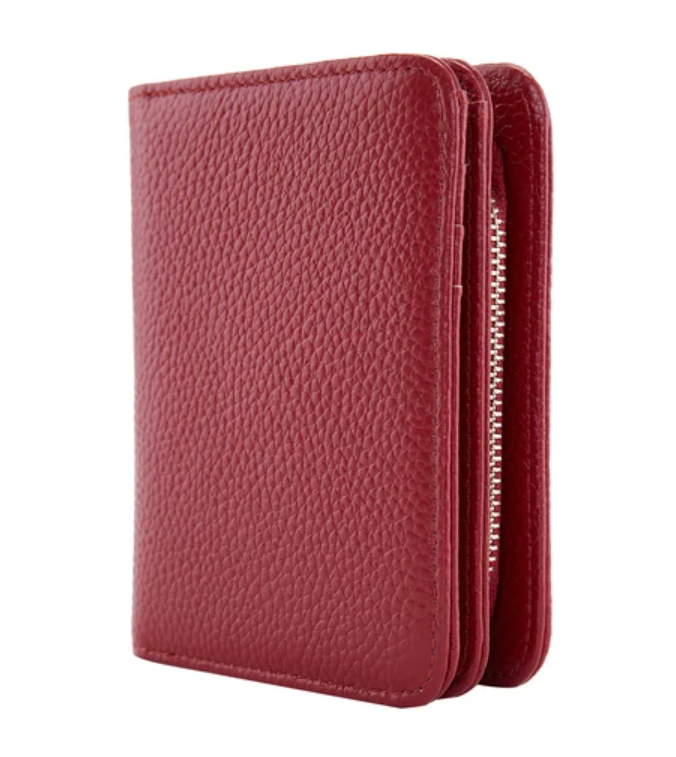Serenade Elegant Leather Wallet Red