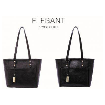 Serenade Ellie Elegant Leather Bag Black