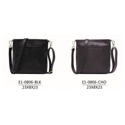 Serenade Jade Elegant Leather Bag Black