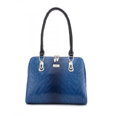 Serenade Sahara Leather Handbag Blue