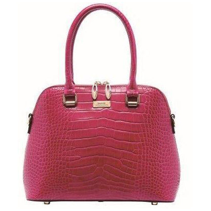 Serenade Beverly Hills Lydia Leather Bag Fuschia