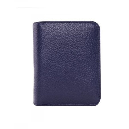 Serenade Elegant Leather Wallet Navy