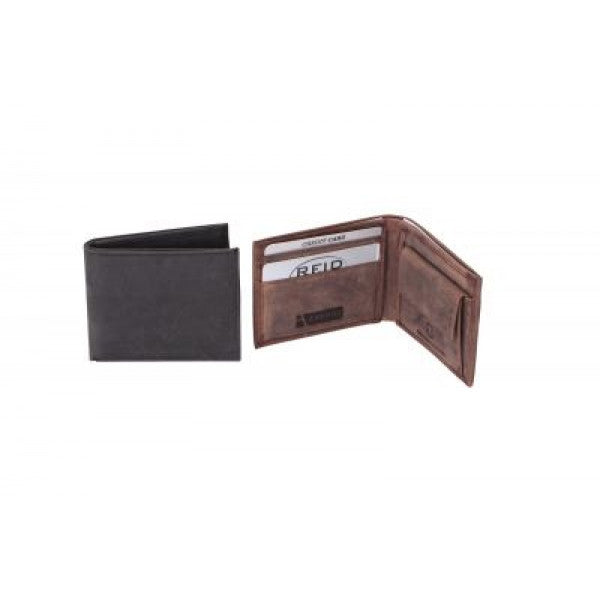 Avenue Hunter Leather Tracker Wallet Black