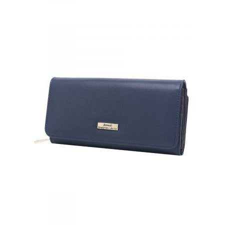 Serenade Hebe Large Leather Wallet Blue