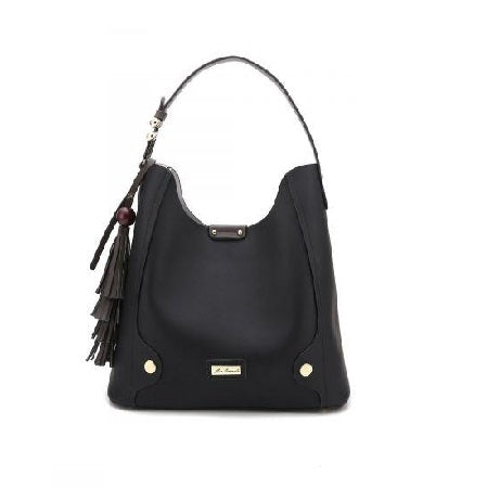 Miss Serenade Jessica Handbag Black with Matching Clutch