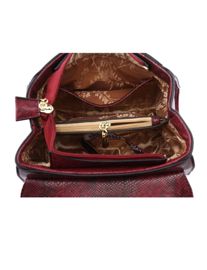 Miss Serenade Gracie Handbag Red