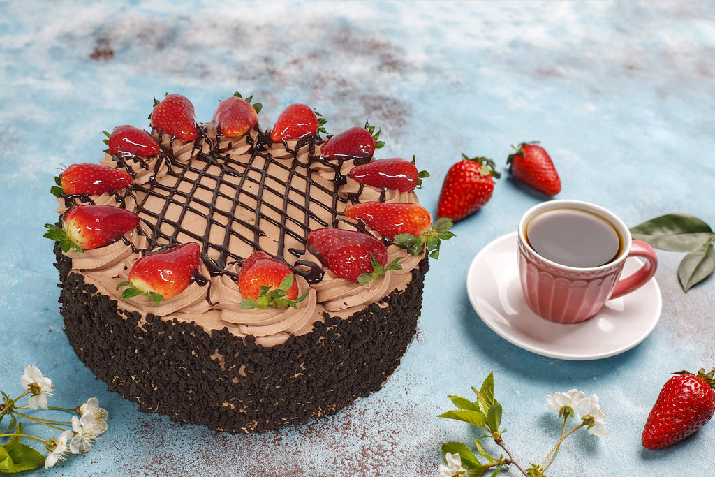 TRIPLE CHOC STRAWBERRY TORTE