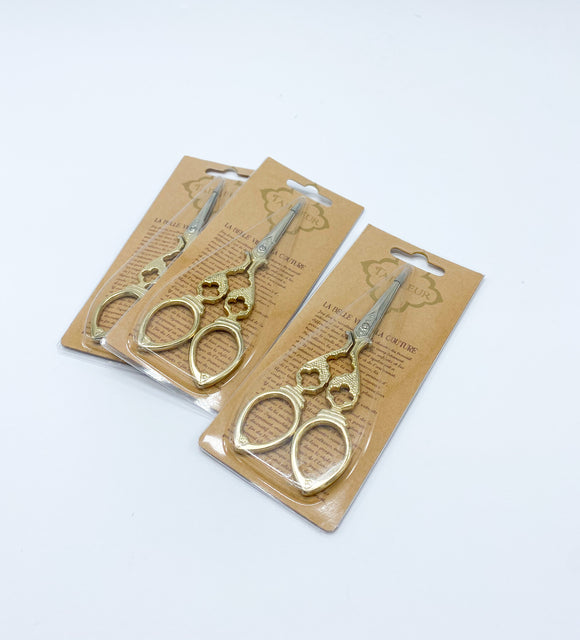 Sharp Gold Embroidery Scissors