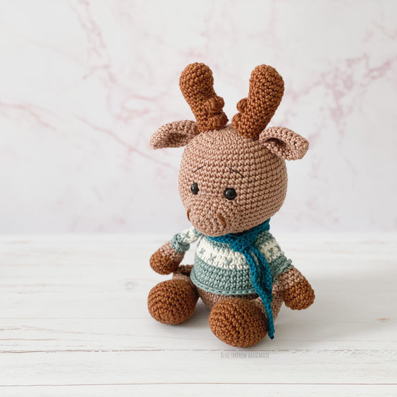 Maverick the Moose Crochet Pattern