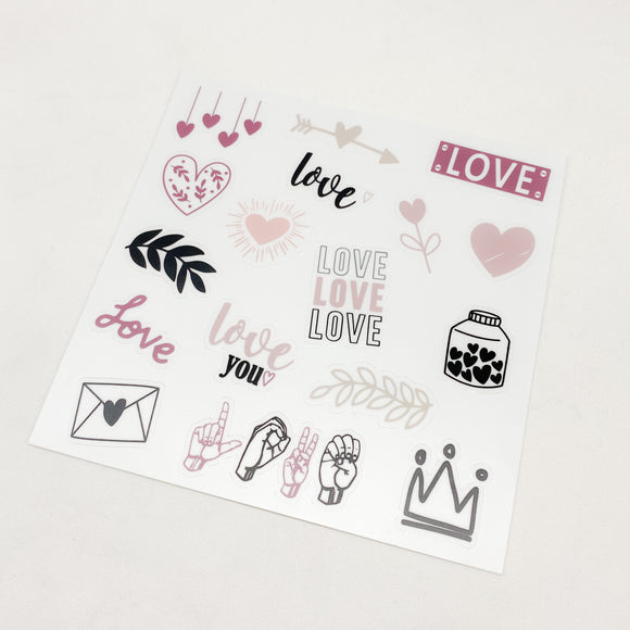 Love Weatherproof Sticker Sheet