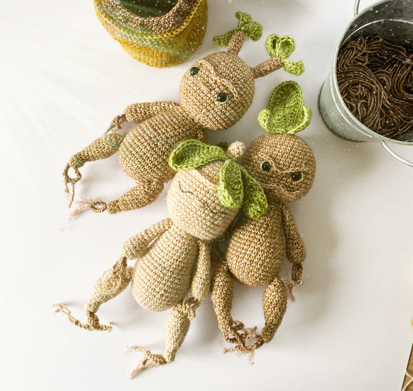 Mandrakes & Pot  Crochet Pattern