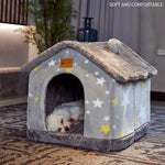 Dog Bed House Winter Warm Small Dog Teddy Cat Bed All Seasons Universal Removable and Washable Dog House Bed Pet Supplie