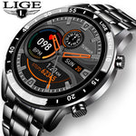 LIGE 2021 New Fashion Mens Watches with Stainless